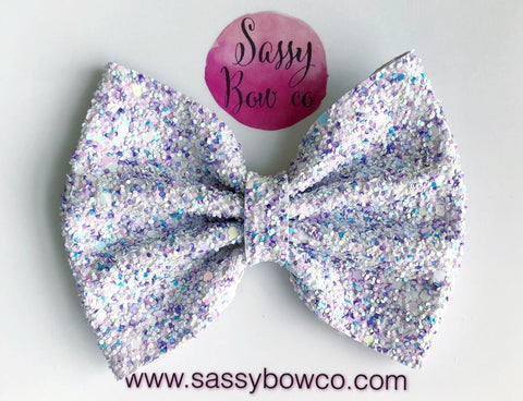 Large Bunny Hop Glitter Bow