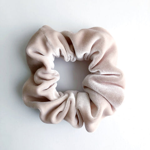 Cream Velvet Scrunchie