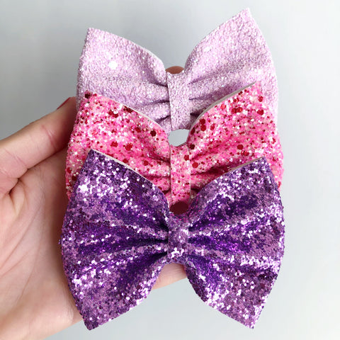 Valentine's Day Large glitter Bow Bundle