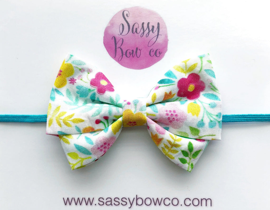 Summer Floral Madi Cotton Bow