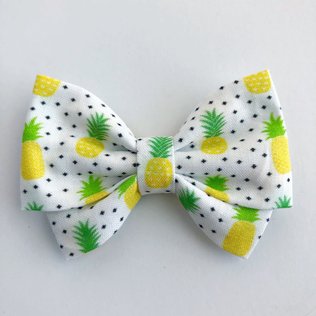 Pineapple Dots Madi Cotton Bow