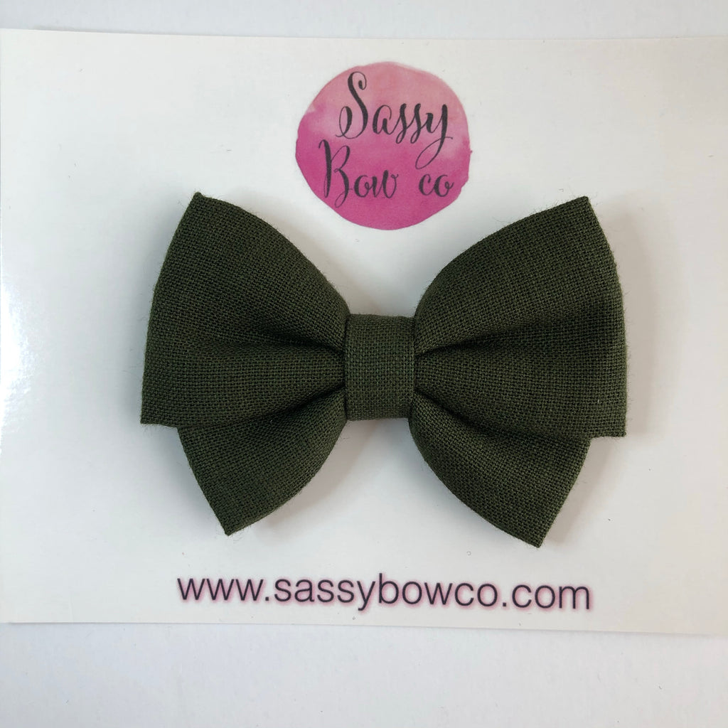 Olive Madi Cotton Bow