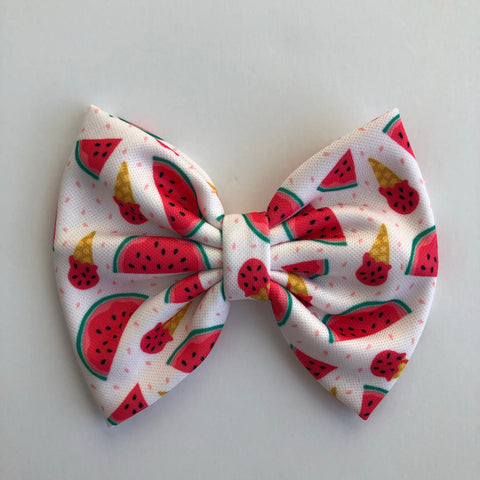 "Watermelon ice cream 4"" Capri Bow"