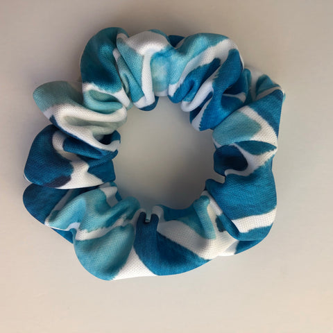 Watercolor herringbone Scrunchie