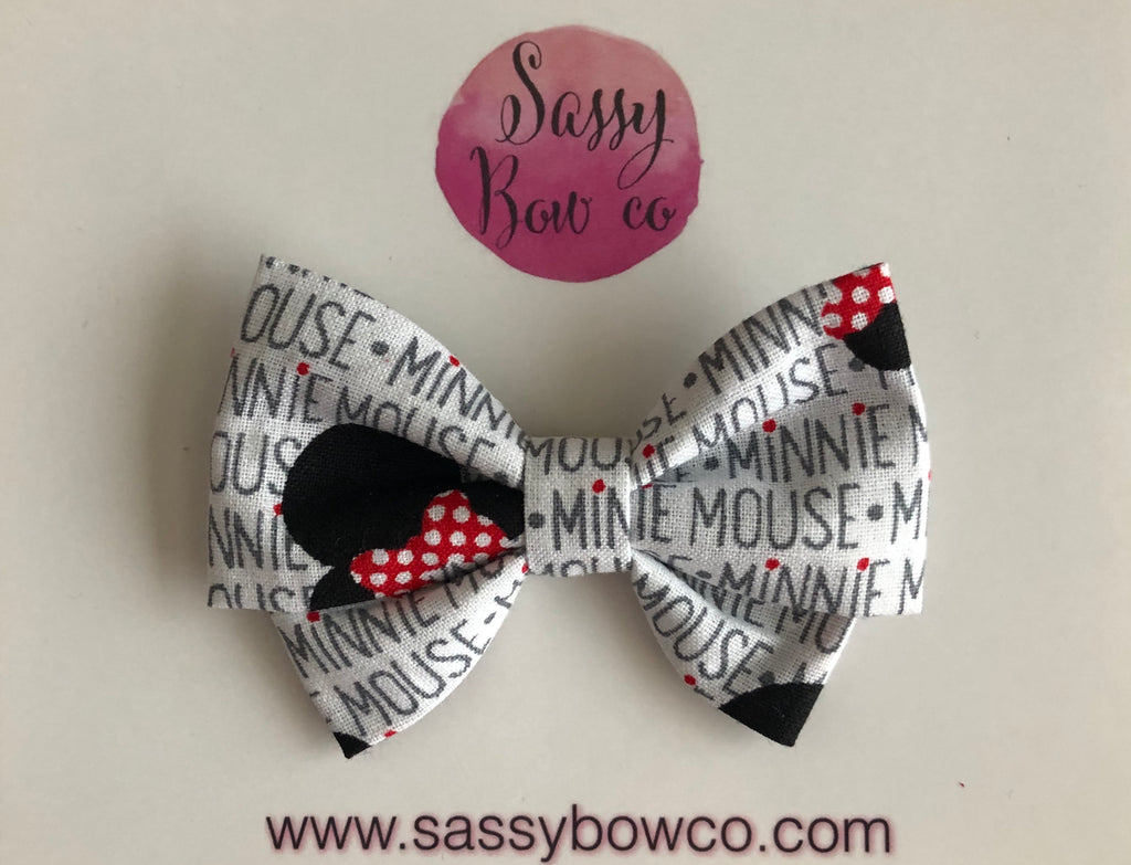 Minnie Script Madi Cotton Bow