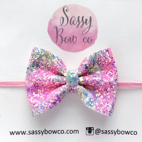 Flower Power Glitter Bow