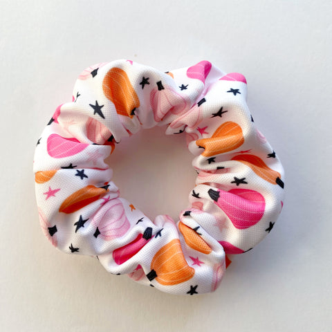 Girly Pumpkin Scrunchie