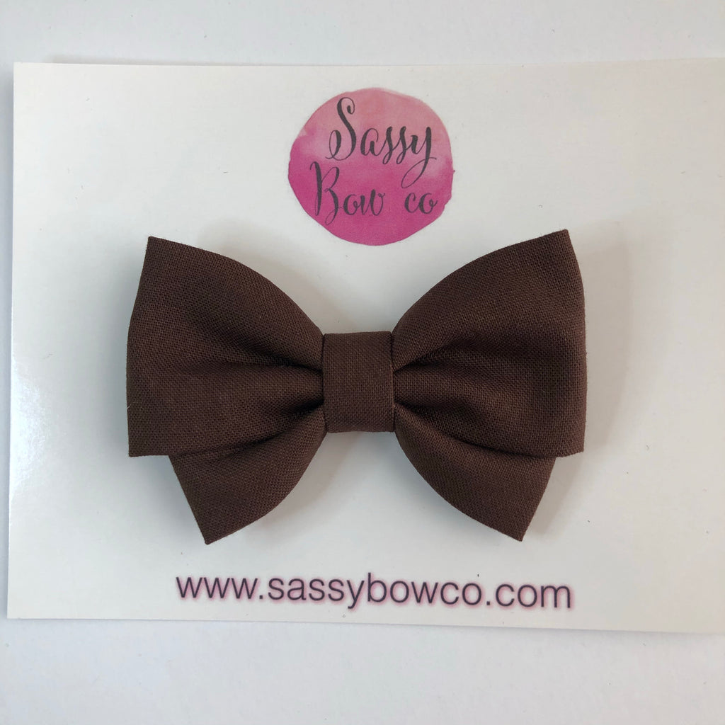 Chocolate Madi Cotton Bow