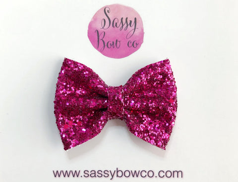 Hot Pink Glitter Bow