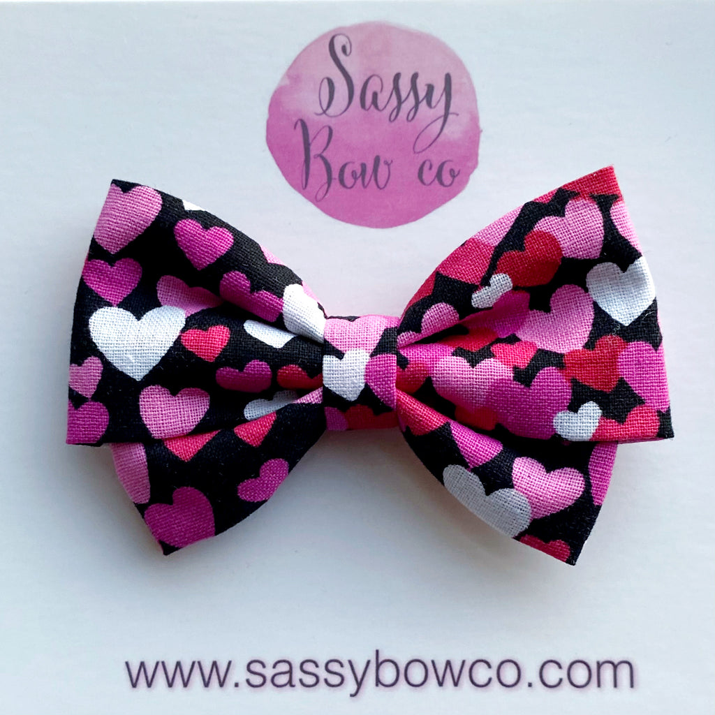 Black Hearts Madi Cotton Bow
