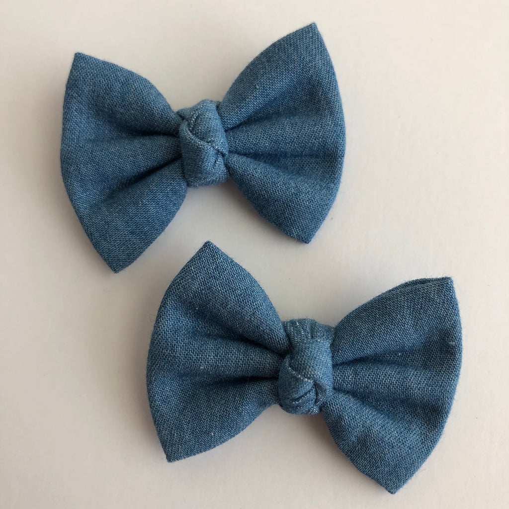 "Chambray 2"" pigtail set"