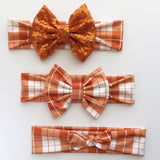 fall flannel Headbands