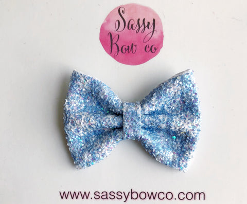 Snowflake Small Glitter Bow