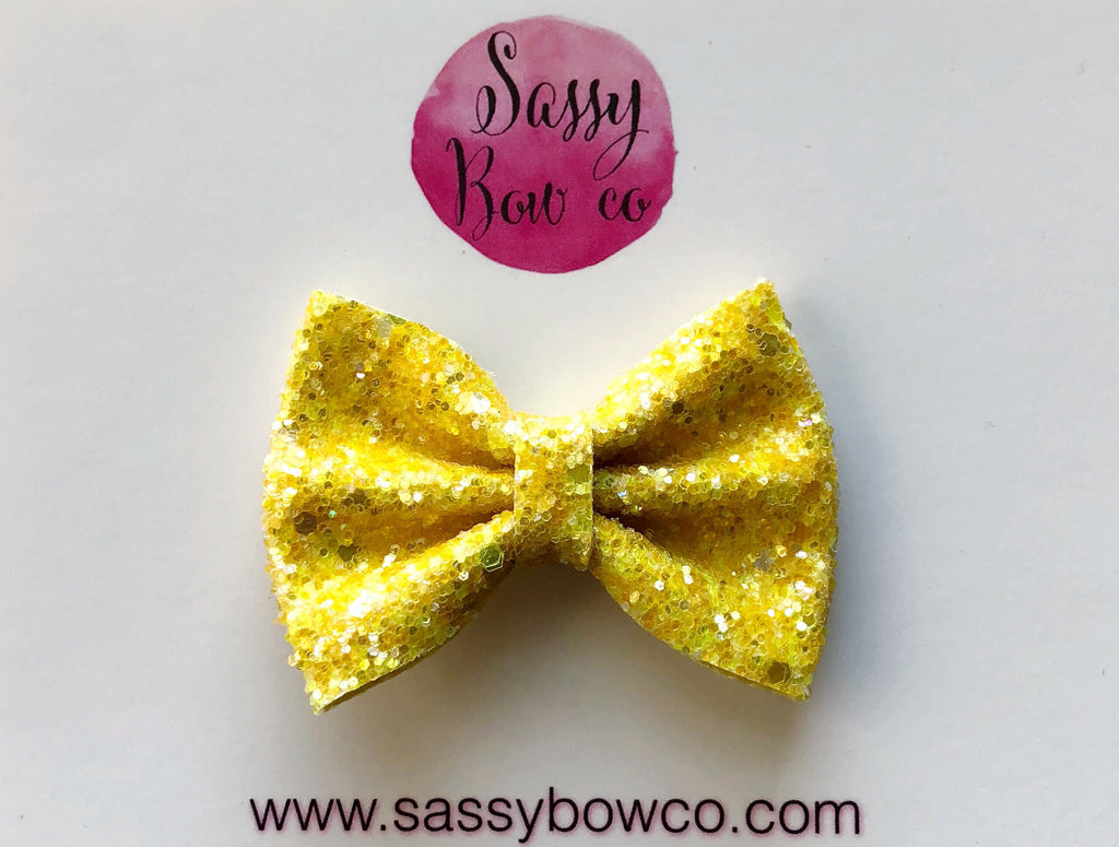 Small Candy Corn Glitter Bow