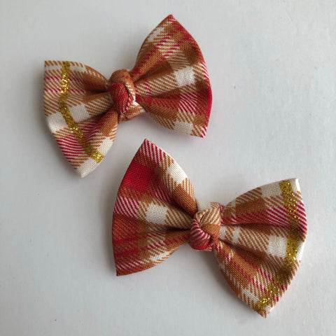 "Fall Flannel 2"" pigtail set"