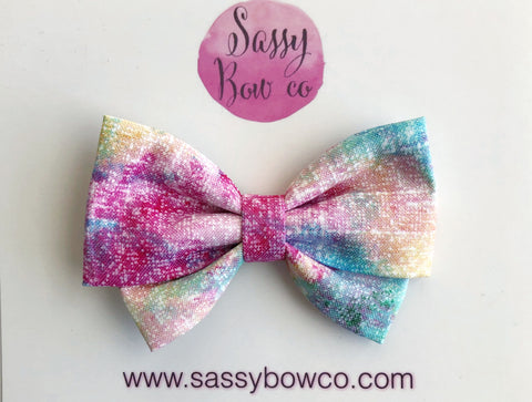 Tie-Dye Madi Cotton Bow