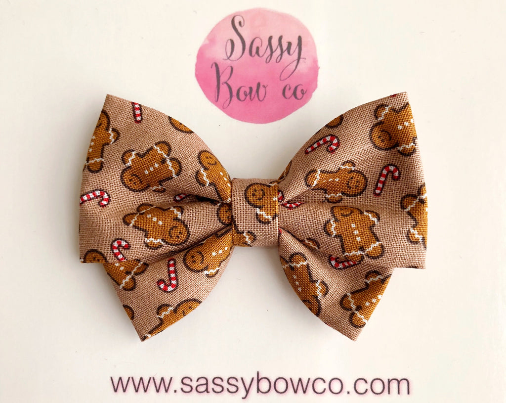 Gingerbread Man Madi Cotton Bow