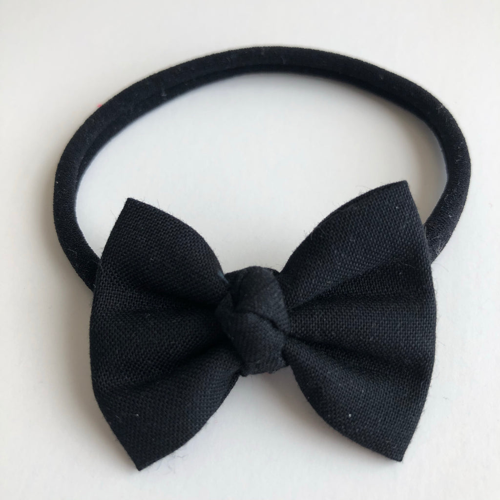 "Black 2"" Chloe bow"