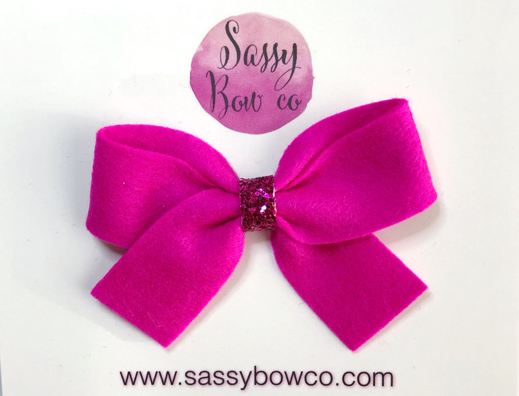 Hot Pink Anniston Bow