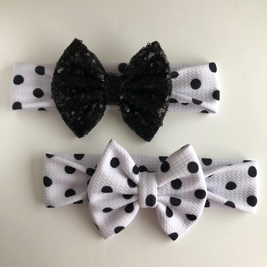 Mickey Black Dot Headbands
