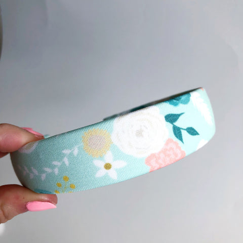 Mint Peony Hard Headbands