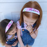 Neon watercolor Floral Hard Headbands