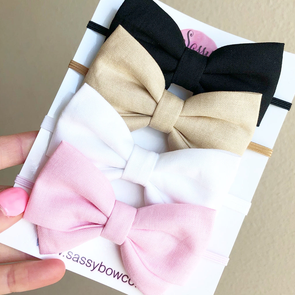 Madi Cotton Bow Basic Bundle Set