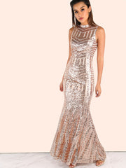 Gold Sequins Open Back Gown for $1.58 at Posh Girl