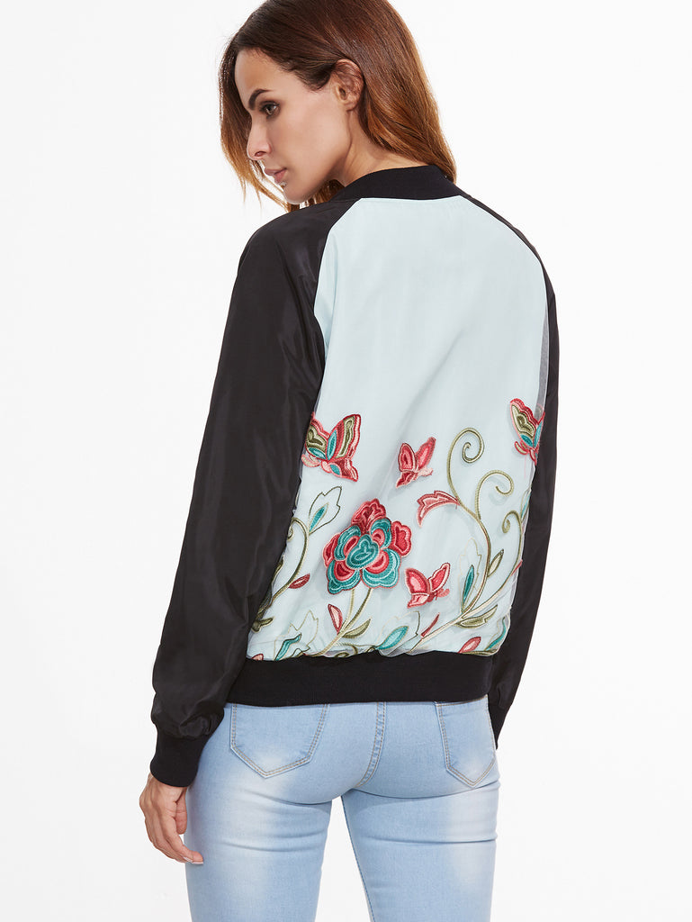 Embroired Lace Bomber Jacket for $0.88 at Posh Girl