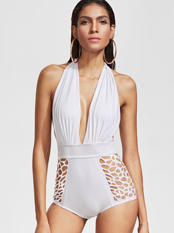 Sydney White One Piece Halter Swimsuit for $0.88 at Posh Girl
