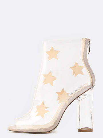 Star Babe Clear Lucite Ankle Boots for $1.18 at Posh Girl