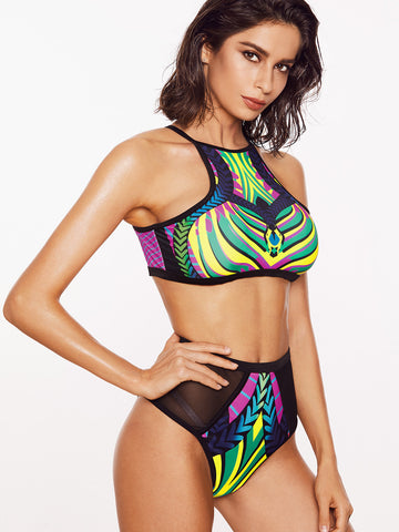 Jodie Black Print Two Piece Swimsuit for $0.88 at Posh Girl