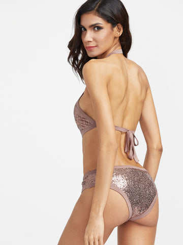 Blush sequins Two-Piece Swimsuit for $0.78 at Posh Girl