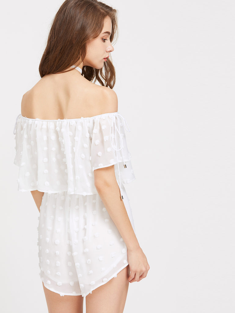 Lace Off Shoulder Romper for $0.88 at Posh Girl