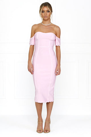 Lilly Lilac Off Shoulder Midi Dress for $1.68 at Posh Girl