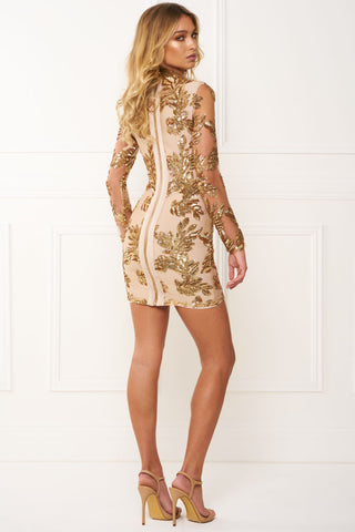 Gold Sequins Bandage Mini Dress for $1.69 at Posh Girl