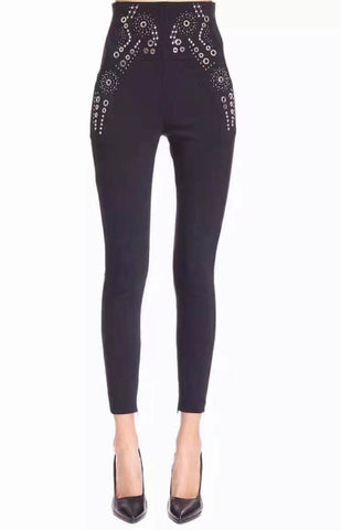 Black High waist Gold Studded Pants for $1.58 at Posh Girl