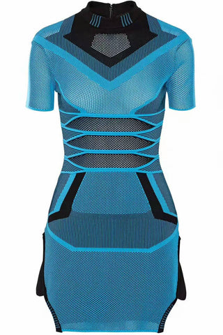 Tandy Too Blue Bandage Mini Dress for $1.88 at Posh Girl