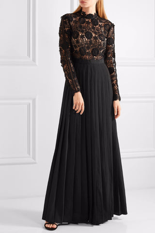Black Lace And Crepe Maxi Dress for $1.98 at Posh Girl