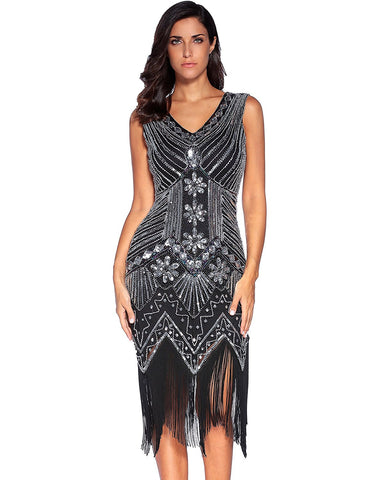 Razzle Dazzle Sequins Fringe Dress for $1.88 at Posh Girl