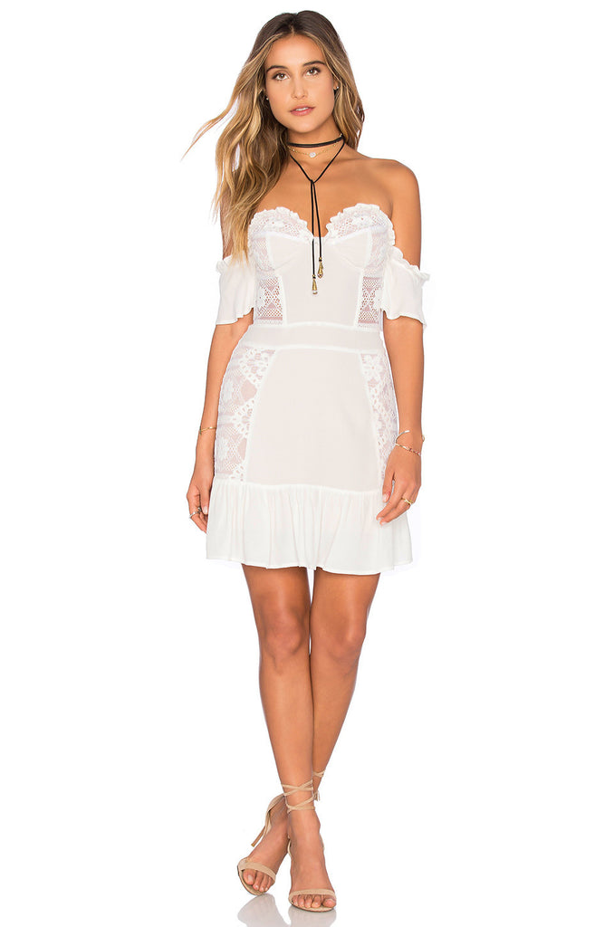 Quinn Lace Off Shoulder Min Dress for $1.68 at Posh Girl