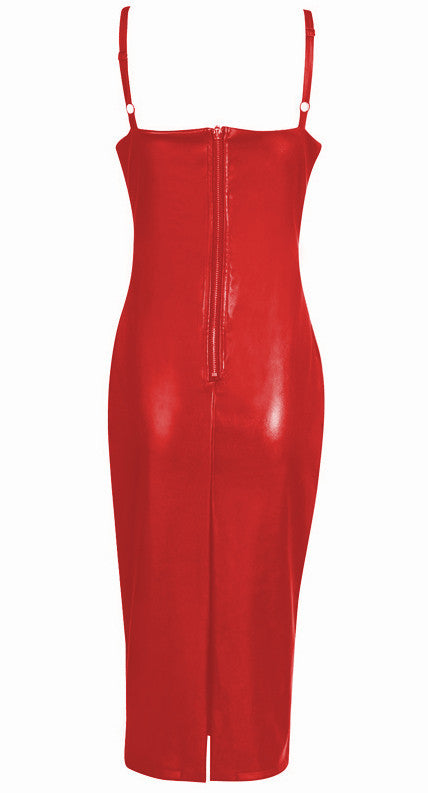 Red Candy Coded Vegan Leather Slip Dress for $1.34 at Posh Girl