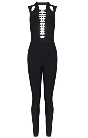 Girl On Fire Black Bandage Jumpsuit for $1.78 at Posh Girl