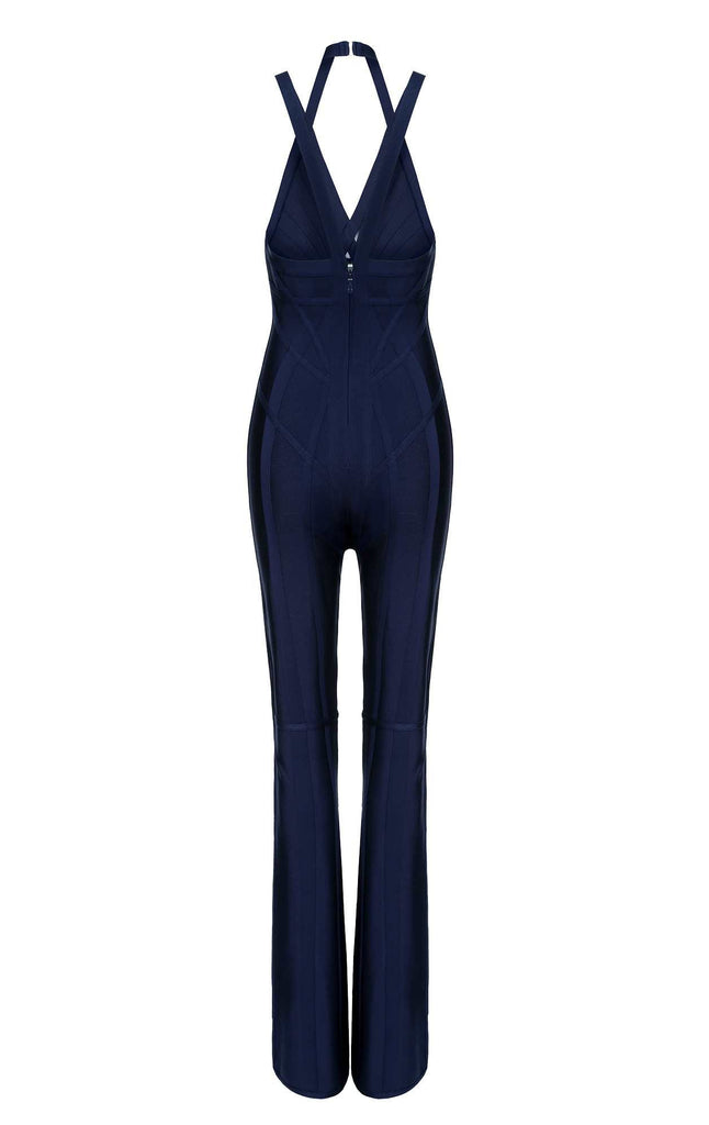 Alessia Navy Blue Bandage Jumpsuit for $1.88 at Posh Girl