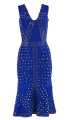 The Dazzler Royal Blue Studded Bandage Dress for $1.98 at Posh Girl