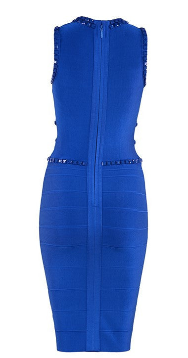 Royal Blue Beaded Bandage Dress for $1.88 at Posh Girl