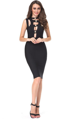 Push My Buttons Cut-Out Bandage Dress for $1.56 at Posh Girl