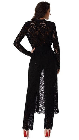 Black Lace And Bandage Duster Set for $2.28 at Posh Girl