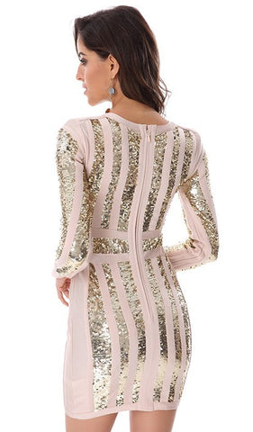 Alisha Long Sleeve Sequins Bandage Dress for $1.98 at Posh Girl