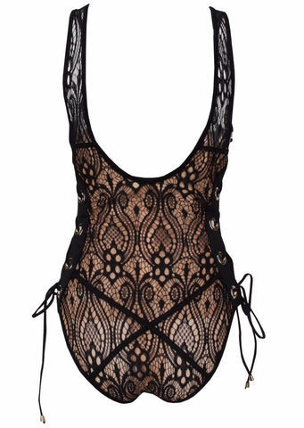 Godiva Lace-Scoop Back Bodysuit for $0.78 at Posh Girl